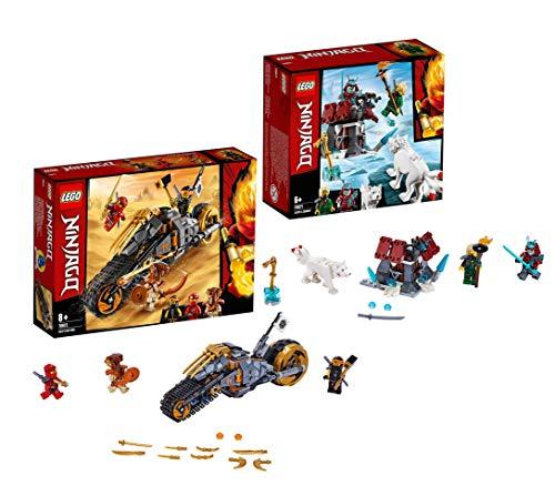 LEGO Ninjago 70672 Coles Offroad-Bike, Bauset Ninjago 70671 Angriff des EIS-Samurai, Bauset