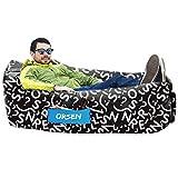 Orsen Sofa Gonflable, canapé Gonflable imperméable à l'eau, Chaise Longue hamac Gonflable avec Sac de Transport et pour intérieur ou extérieur, Voyage, Camping, fête, mer, Jardin ou Plage