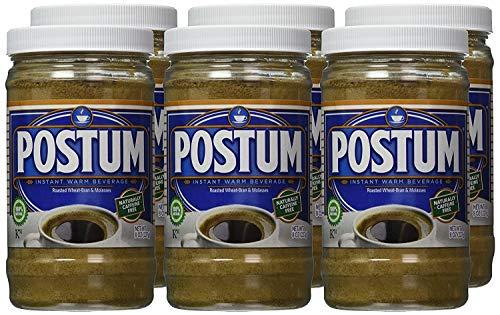 Postum Wheat Bran & Molasses Coffee Alternative (6 x 8oz) | Caffeine Free Instant Coffee Substitute | Natural Blend, Rich, Tasty, Healthy, Dietary Beverage for Breakfast, Gourmet & Pantry Pack
