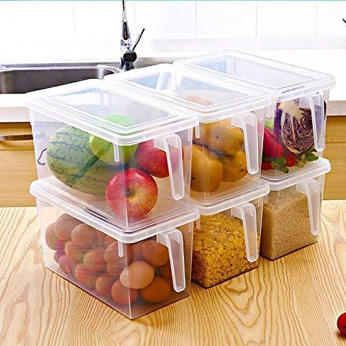 YAANGSI Almacenamiento de Alimentos, a Prueba de Fugas con Tapa, congelador y Almacenamiento de Alimentos en la Cocina. (4 Piezas)