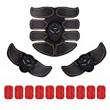 ABS Trainer Muscle Stimulator EMS Abdominal Toner for Women Men Home Workout Fitness AB Stimulators for Full Body Chest Leg Arm 6 Modes 10 Levels Portable Wireless AB Toning Belt