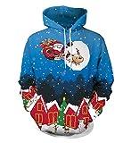 felpe natalizie uomo cappuccio pullover natalizio donna felpa con cappuccio maglioni stampa natalizi divertenti ragazza maglione natale renna coppia maglie invernali oversize casual larghe sportive l