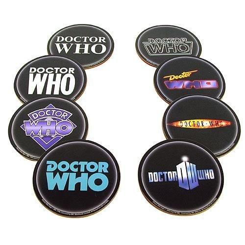 Bif Bang Pow! Doctor Who Logo Coasters Set of 8 Case