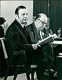 Die CDU Politiker Manfred Schäfer und Prof. Burgbacher -