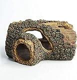 jaosn Decoración de acuario, tronco de árbol, cueva de resina, decoración de acuario, adornos acuáticos, ideal para pequeños gambas, peces (1 unidad, cueva)