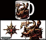 Semic Distribution 40000 MUG Chaos Space Marines-Warhammer 40K, WHK-M004, Blanc