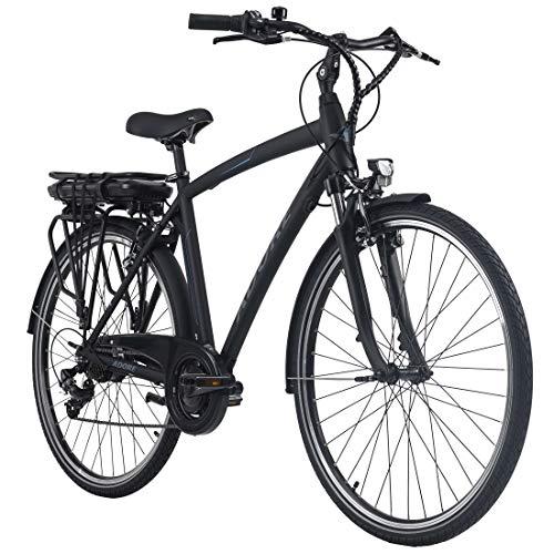 Adore Alu E-City Bike Herren Versailles 28'' schwarz 250Watt Li-Ion 36V/10,4Ah 7Gänge
