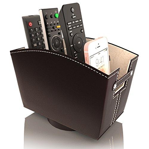 TV Remote Control Holder Caddy Bedside Organizer | Nightstand Storage Desk Accessories...