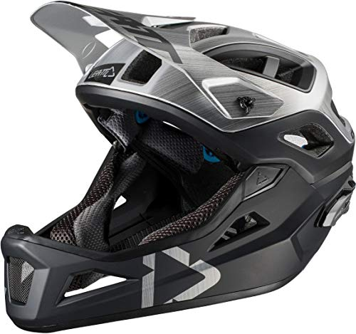 Leatt DBX 3.0 Enduro V2 Off-Road Racing Bicycle Helmet - Brushed/Small