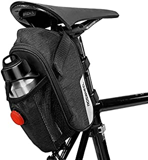Roswheel Unisex's 131474 Bike Bicycle Saddle seat Bag, Black