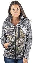 TrailCrest Women's Windproof Softshell Jacket Mossy Oak Camo Patterns (Grey Heather - Medium)