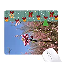 春の花芽の写真 ゲーム用スライドゴムのマウスパッドクリスマス