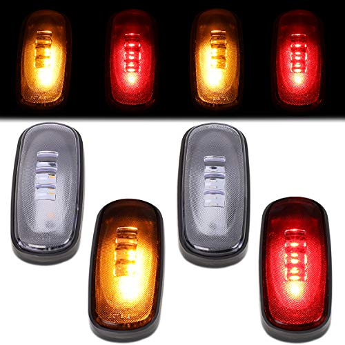 4Pcs Trailer Dually Bed Fender LED Side Marker Light Lamp Replacement for Dodge Ram Truck 2500 3500 03-09 Clear