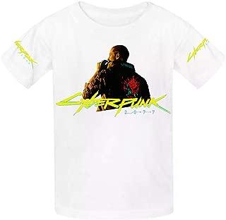 Cyberpunk 2077 Gaming Youth Cotton T-Shirts Unisex Child Short Sleeve Tee Shirt