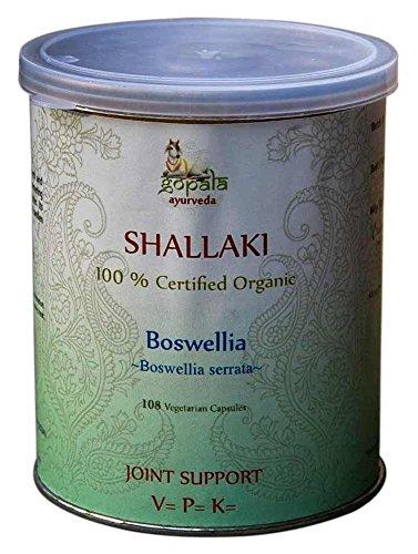 SHALLAKI (Boswellia serrata) BIO 108 gélules (500mg) - Plante Ayurvédique Traditionnelle soutenir les articulation