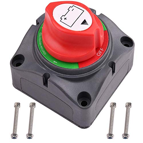 1-2-Both-Off Battery Disconnect Switch, 12V 24V 48V Battery Selector Master Cutoff Switch for Marine Boat Car RV ATV UTV Vehicle, Waterproof Heavy Duty Battery Isolator Switch, 200/1250Amps