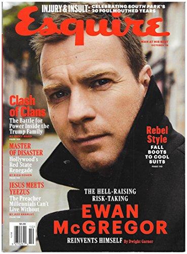 Esquire Magazine (October, 2016) Ewan McGregor Cover