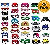 ❤Ogni ragazzo vuole essere un supereroe: ora è possibile! Questo set è perfetto non solo per il tuo bambino, ma anche per i genitori e gli adulti che vogliono fingere di essere i loro supereroi preferiti durante il giorno. ❤35pcs Maschere Supereroe I...