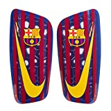 NIKE FC Barcelona Mercurial Lite – Espinilleras, Night Maroon/Hyper Crimson, otoño/Invierno, Unisex Adulto, Color Deep Royal Blue/Noble Red/University Gold, tamaño M/160-170 cm