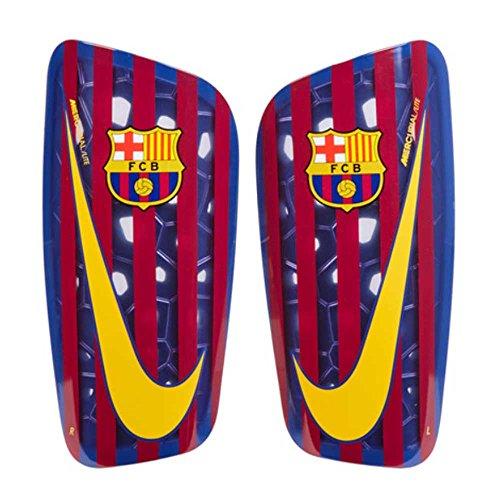 Nike Erwachsene FC Barcelona Mercurial Lite Schienbeinschoner, Deep Royal Blue/Noble Red/University Gold, XL/180-200 cm