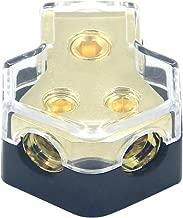 ZOOKOTO 0/2/4 Gauge in 4/8/10 Gauge Out Amp Power Distribution Block Car Audio Splitter 2 Way Outputs Power Distributor Block Fuse Holder
