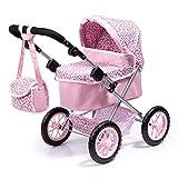 Bayer Design- Passeggino Trendy, Carrozzina per Bambole con Borsa, Colore Rosa con Motivo Leopardo,...