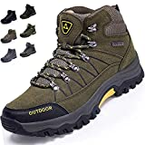 [VITIST] トレッキングシューズ メンズ ハイキングシューズ 防水 登山靴 アウトドアシューズ キャンプシューズ 革 防滑 3e ハイキング 靴 軽量 大きいサイズ グリーン 25cm