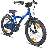 Prometheus vélo enfant 18 pouces pour garçons et filles en bleu et noir à partir de 6 ans avec freins V-Brake en aluminium et...