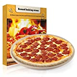 Pizza Stone, 15' Round Engineered Tuff Cordierite Durable Baking Stones for Ovens & Grill & BBQ, Stone Oven Round Pizza Stone