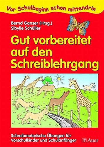 Gut vorbereitet auf den Schreiblehrgang: Schreibmotorische Übungen für Vorschulkinder und Schulanfänger (1. Klasse/Vorschule) (Vor Schulbeginn) by Sibylle Schüller (2006-06-20)