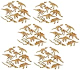 Novelty Treasures Awesome 2 Inch Skeleton Dinosaur Figures Set of 48 School Activity and Dino Birthday Party Favor Goody Bag Toys