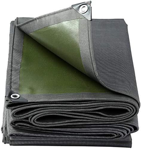 ZHPBHD Espesar la lona lona Lona cubiertas de tierra Hoja de abrigo de la tienda Toldo de alta densidad de tejido a prueba de lluvia for trabajo pesado reforzado al aire libre, Multi Tamaños, 600G / M