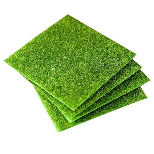 Décoration de mousse artificielle Toruiwa - Micro paysage de faux gazon - Décoration pour jardin, bonsaï, maison - Vert - 1 pièce, Green, 30cm*30cm