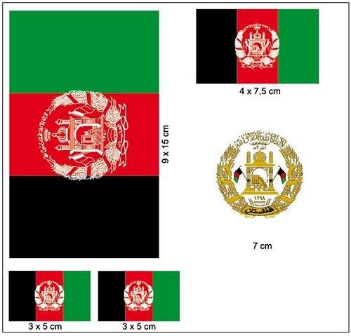 Aufkleber Set Afghanistan Fahne Flagge