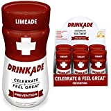 DrinkAde (6 Pack) Prevention with Vitamins & Electrolytes for Hydration Includes Vitamin B, Milk Thistle, Only 5 Calories, No Sugar, Caffeine-Free, Vegan, Non-GMO