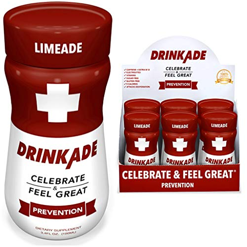 DrinkAde 6 Pack Prevention with Vitamins amp Electrolytes for Hydration Includes Vitamin B Milk Thistle Only 5 Calories No Sugar CaffeineFree Vegan NonGMO