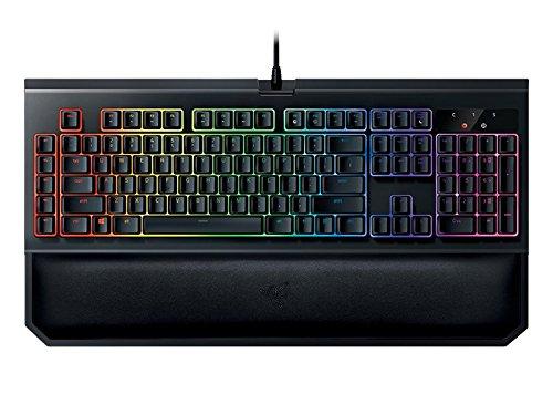 Razer BlackWidow Chroma V2 Esports Gaming Keyboard (Ergonomische Handballenauflage - 5 dedizierte Makrotasten - Razer Green Switches (Taktil und Klickend), DE Layout)