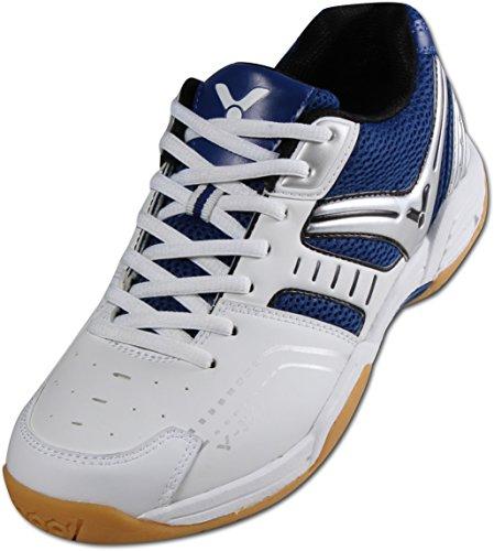 VICTOR V-300 Indoor Sportschuh/Badmintonschuh/Hallenschuh, Blau/Weiß, Größe 44