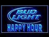 Bud Light Beer Happy Hour Drink Led Light Sign