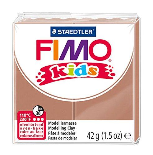 Staedtler 8030-71 - Fimo Kids Normalblock, 42 g, hellbraun