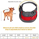 Achort Pet Carrier Hand Free Sling Puppy Carry Bag Small Dog Cat Traverl Carrier with Breathable Mesh Pouch for Outdoor Travel Walking Subway 12LB (Red) 11
