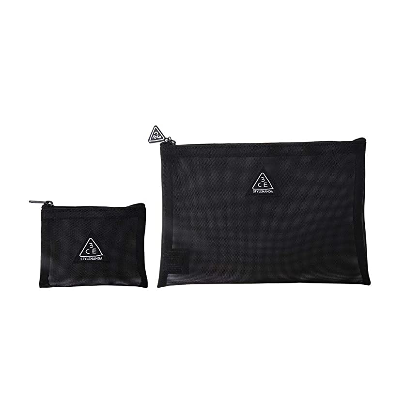 ジャーナルアマチュアトレイル3CE メッシュ ポーチ(ブラック) / 3CE MESH POUCH (Black) [並行輸入品]