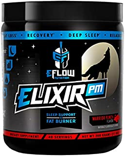 eFlow Nutrition Elixir PM Night Time Fat Burner Thermogenic Sleep Aid - 3 Flavor Options (Warrior Punch)