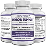 Thyroid Support Supplement for Women & Men, 14 Vitamins & Herbs – Iodine, Ashwagandha, B12, Schisandra for Energy, Metabolism, Weight Loss, Cortisol Balance, Adrenal Fatigue, Stress & Anxiety Relief