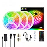LLYX 10 M luz de tira con 300 luces 5050 Franja de luz RGB Set decoración colorida ligera impermeable Música tira no inteligente Bluetooth Wifi luz de tira for el hogar TV Party Cocina, Grado impermea