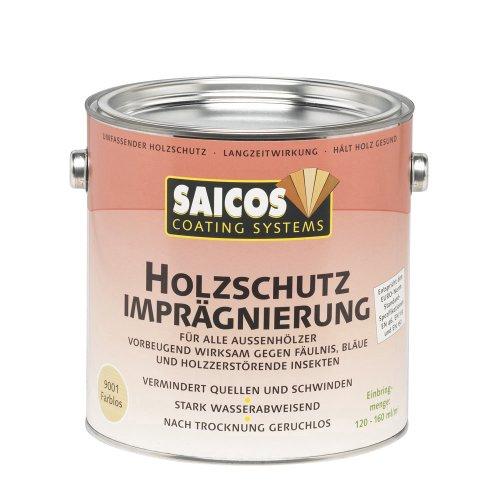Saicos 9001 501 Holzschutzimprägnierung Farblos 2.5l