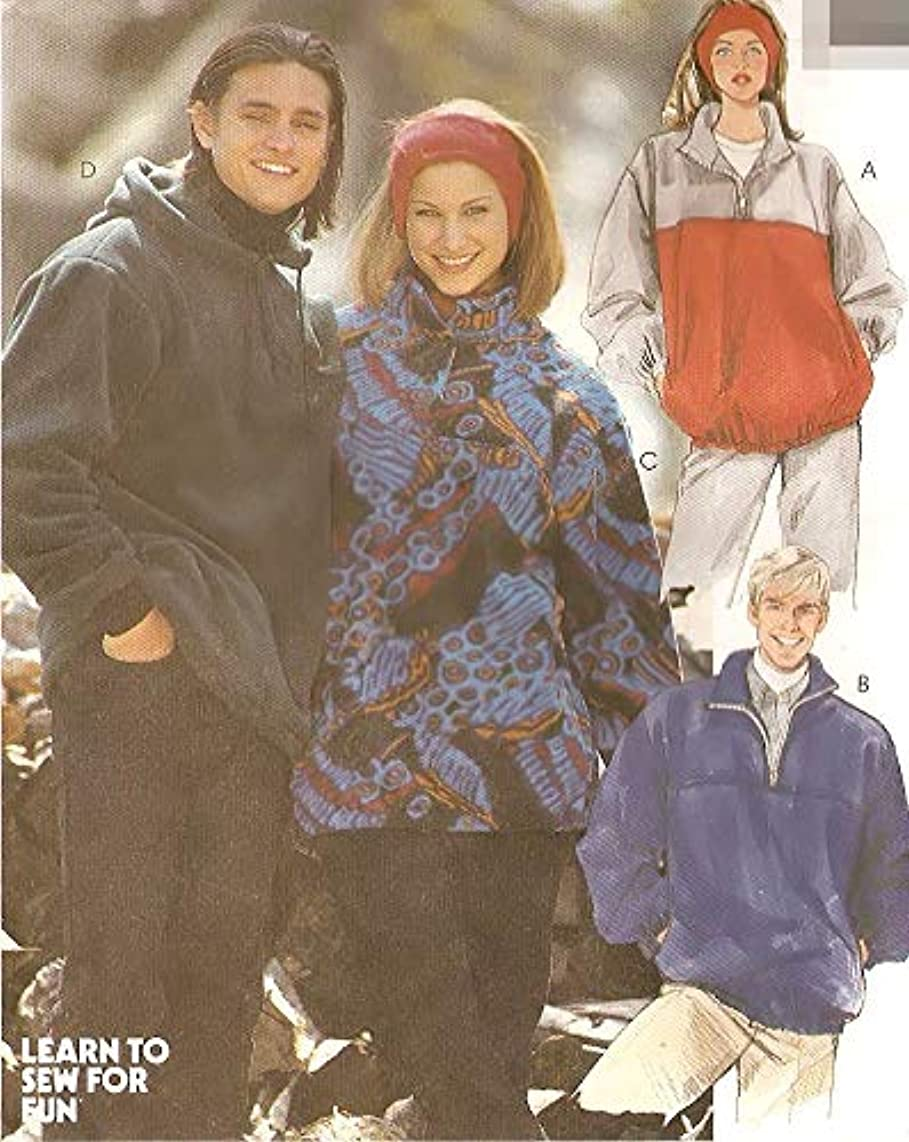 McCall's Pattern 7311 Misses' and Men's Tops and Headband - For Stretch Knits Only, Size Y (S-M-L)