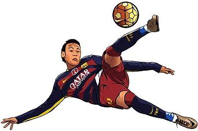 Impression Wall Decor Jr. Neymar Played Football Sticker