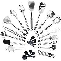 kronenkraft® set di utensili da cucina in acciaio inox, 26 pezzi