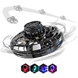 IIDA Flynova Flying Spinner Toy, Hand Operated Drone for Kids Adults Mini Helicopter UFO Boomerang Aircraft Interactive Toys with led Light Indoor/Outdoor for Girl boy
